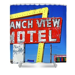 Ranch View Motel Shower Curtain