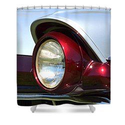 Ranch Wagon Headlight Shower Curtain by Dean Ferreira