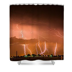 Randall Lightning Shower Curtain