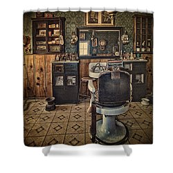Randsburg Barber Shop Interior Shower Curtain