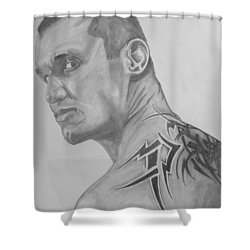 Randy Orton Shower Curtain by Justin Moore