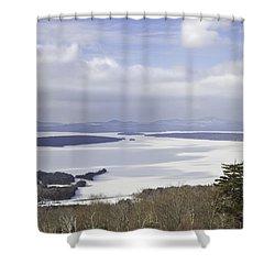 Rangeley Maine Winter Landscape Shower Curtain by Keith Webber Jr