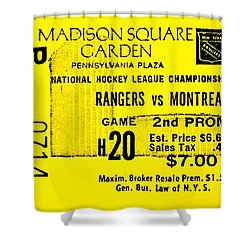 Rangers 6 Canadiens 5 Shower Curtain by Benjamin Yeager