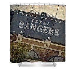 Rangers Ballpark In Arlington Color Shower Curtain by Joan Carroll