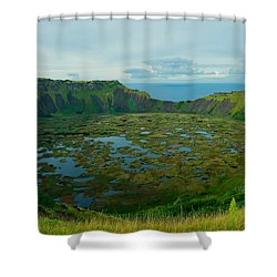 Rano Kau Kau Crater Shower Curtain