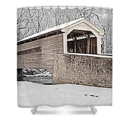 Rapps Bridge In Winter Shower Curtain