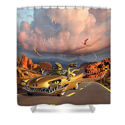 Rapt Patrol Shower Curtain