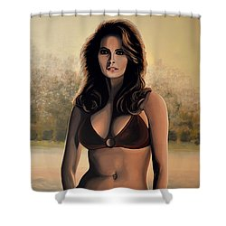 Raquel Welch 2 Shower Curtain by Paul Meijering