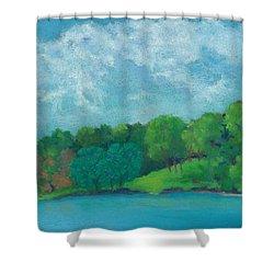 Raquel's Morning Walk Shower Curtain