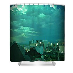 Rare Clouds Over Vegas Shower Curtain by John Malone