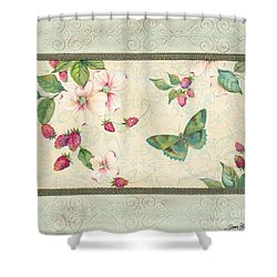 Raspberry Bliss Shower Curtain by Jean PLout