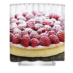Raspberry Tart Shower Curtain by Elena Elisseeva