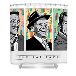 Rat Pack Pop Art Shower Curtain by Jim Zahniser