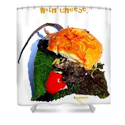 Ratburger With Cheese Shower Curtain