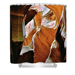 Rattlesnake Canyon Shower Curtain by Ed  Riche