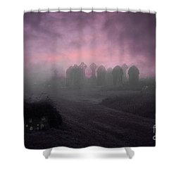 Rave In The Grave Shower Curtain by Terri Waters