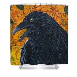 Raven Festival Shower Curtain