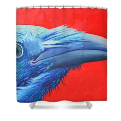 Raven Portrait Shower Curtain by Ana Maria Edulescu