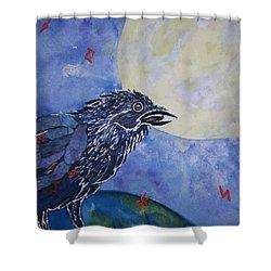 Raven Speak Shower Curtain by Ellen Levinson
