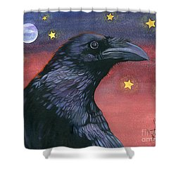 Raven Steals The Moon - Moon What Moon? Shower Curtain