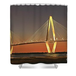 Ravenel Bridge At Dusk Shower Curtain