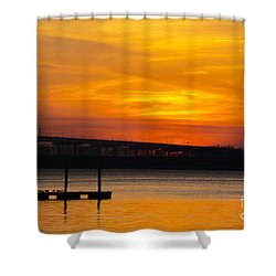 Orange Blaze Shower Curtain by Dale Powell