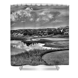 Ravenna IIi Black And White Shower Curtain
