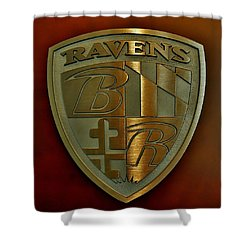 Ravens Coat Of Arms Shower Curtain