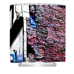 Shower Curtain featuring the photograph Raw Brick Bones by Christiane Hellner-OBrien