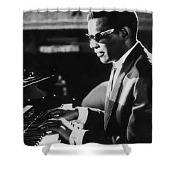 Ray Charles At The Piano Shower Curtain