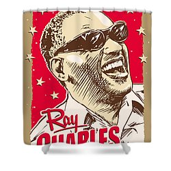 Ray Charles Pop Art Shower Curtain