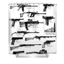 Raygunz Poster Shower Curtain by Ray Gunz