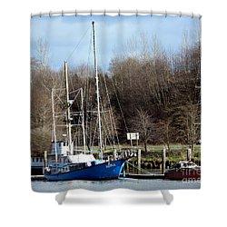 Raymond Fishing Boats Shower Curtain
