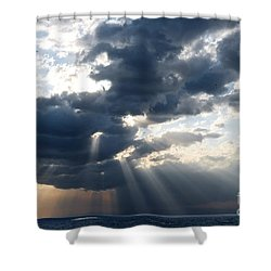 Rays And Clouds Shower Curtain by Antonio Scarpi