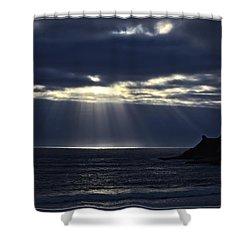 Rays Of Hope At Cape Kiwanda Oregon Shower Curtain
