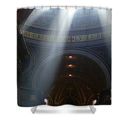 Rays Of Hope St. Peter's Basillica Italy  Shower Curtain