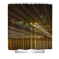 Rays Over The Bay Shower Curtain