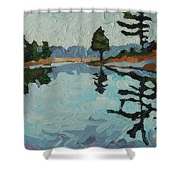 Reach Long Shower Curtain by Phil Chadwick
