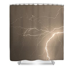 Reaching Out Touching Me Touching You Sepia Shower Curtain by James BO  Insogna
