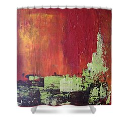 Reaching Up, Abstract  Shower Curtain