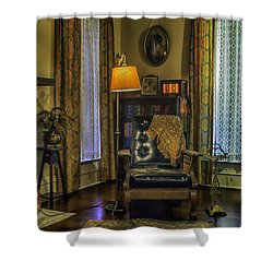 Reading Nook With Leather Chair Shower Curtain by Lynn Palmer