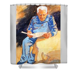 Reading Time Shower Curtain