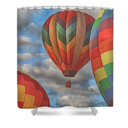 Readington Balloon Fest Media Launch 13 Shower Curtain
