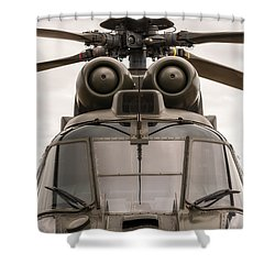 Ready For Action Shower Curtain by Ray Warren