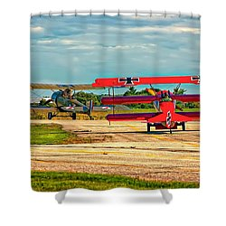 Ready For Combat Shower Curtain by Steve Harrington