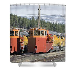 Ready For More Snow At Donner Pass Shower Curtain by Jim Thompson