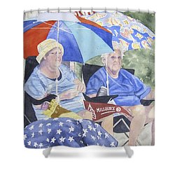 Ready For The Millbury Parade Shower Curtain