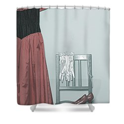 Ready To Go Out Shower Curtain by Joana Kruse