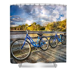 Ready To Ride Shower Curtain by Debra and Dave Vanderlaan