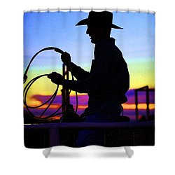 Ready To Rope I Shower Curtain by Toni Hopper
